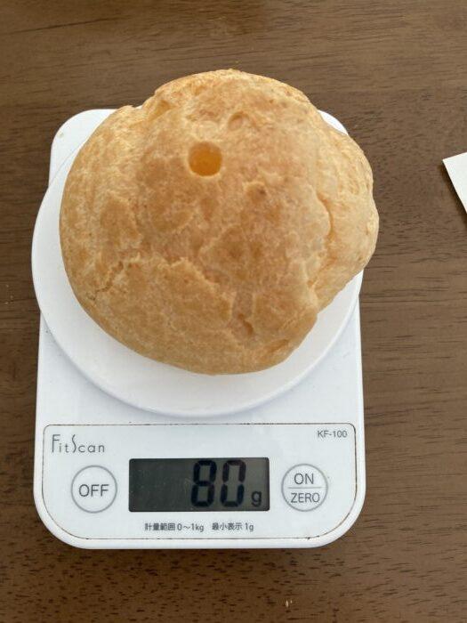 シュークリーム 計量